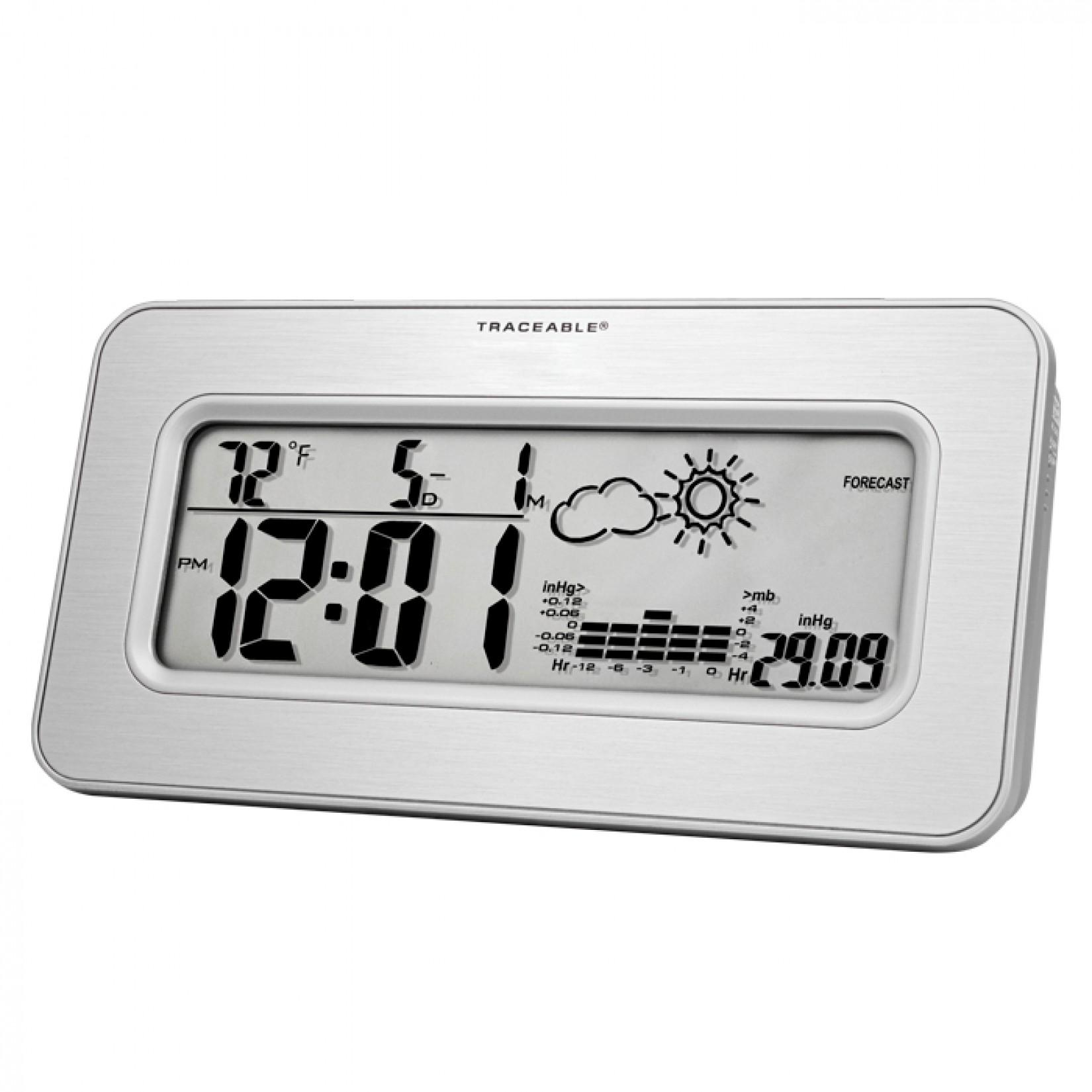 Barómetro de estación de trabajo con reloj Certificado