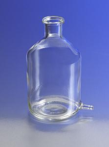 Botella aspiradora cilíndrica con salida para tubos