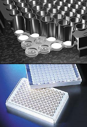 Placas de filtro FiltrEX de 96 pozos