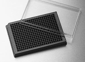 Microplaca de 384 pozos color blanco o negro