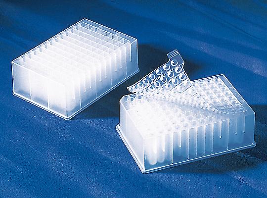 Bloques de polipropileno de 96 y 384 pozos para crecimiento y almacenamiento bacteriano