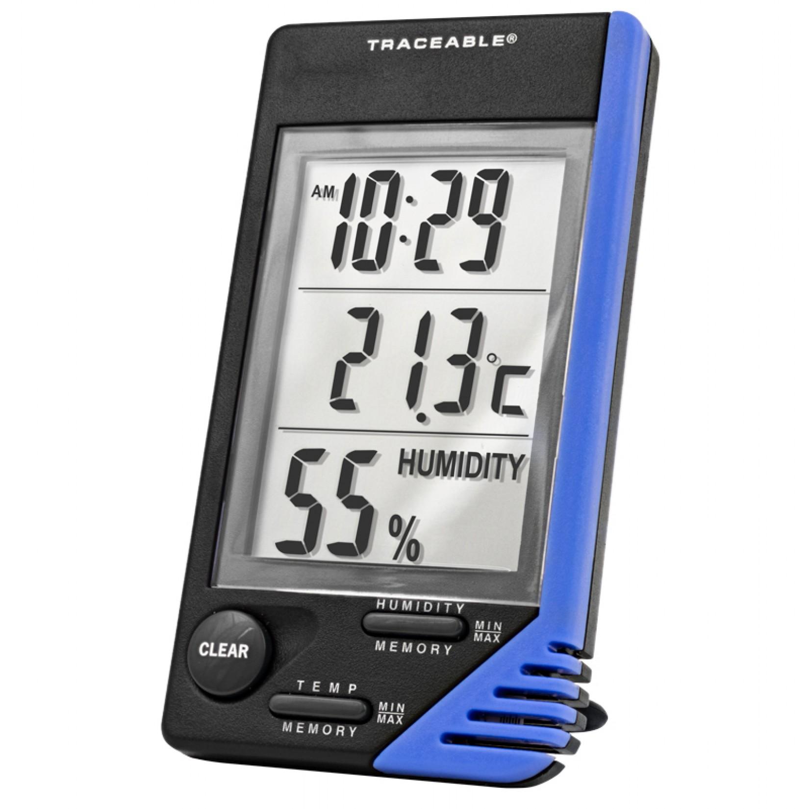 Termómetro, reloj y medidor de humedad Certificado