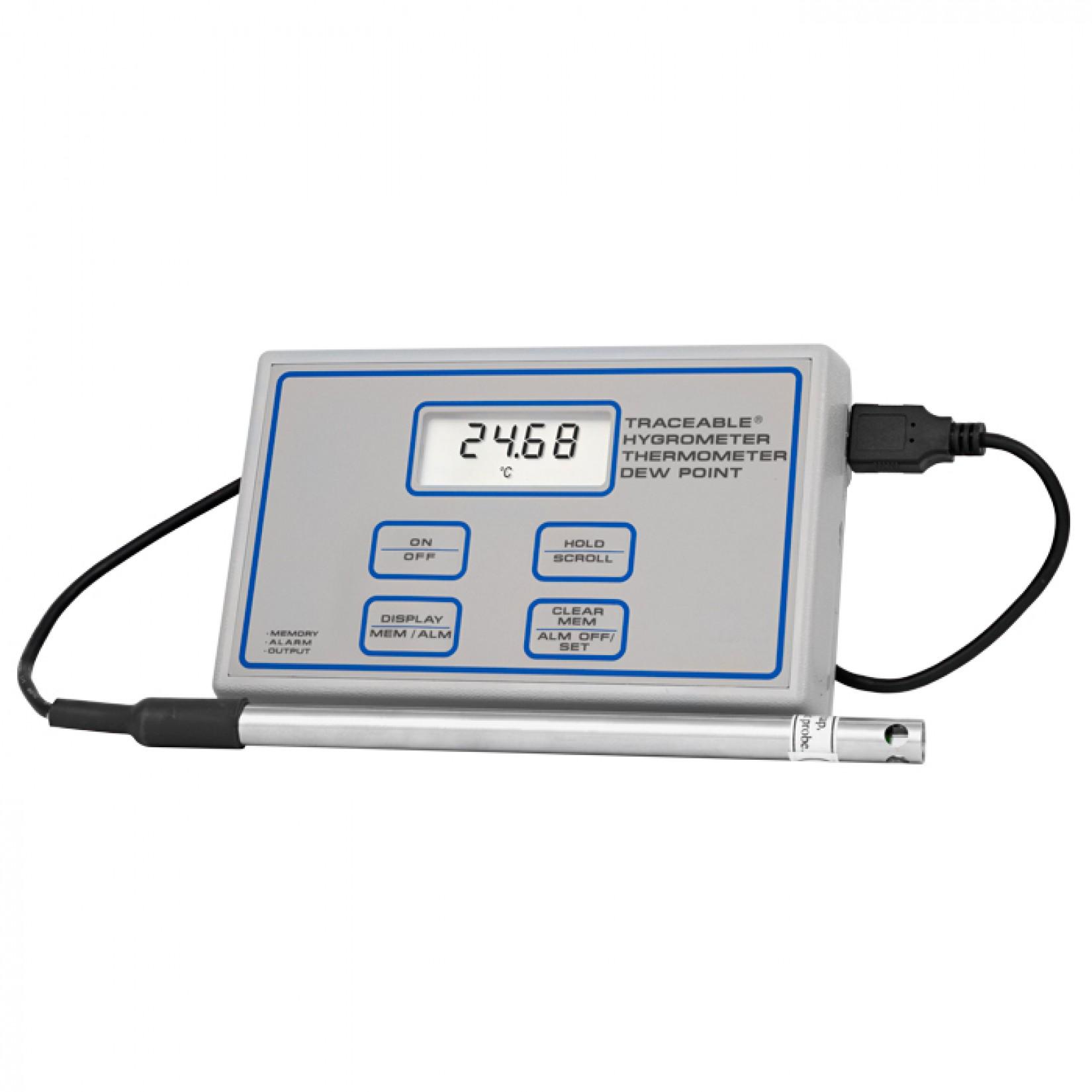 Medidor de humedad, temperatura, punto de rocío, ideal para laboratorios de control de calidad Certificado