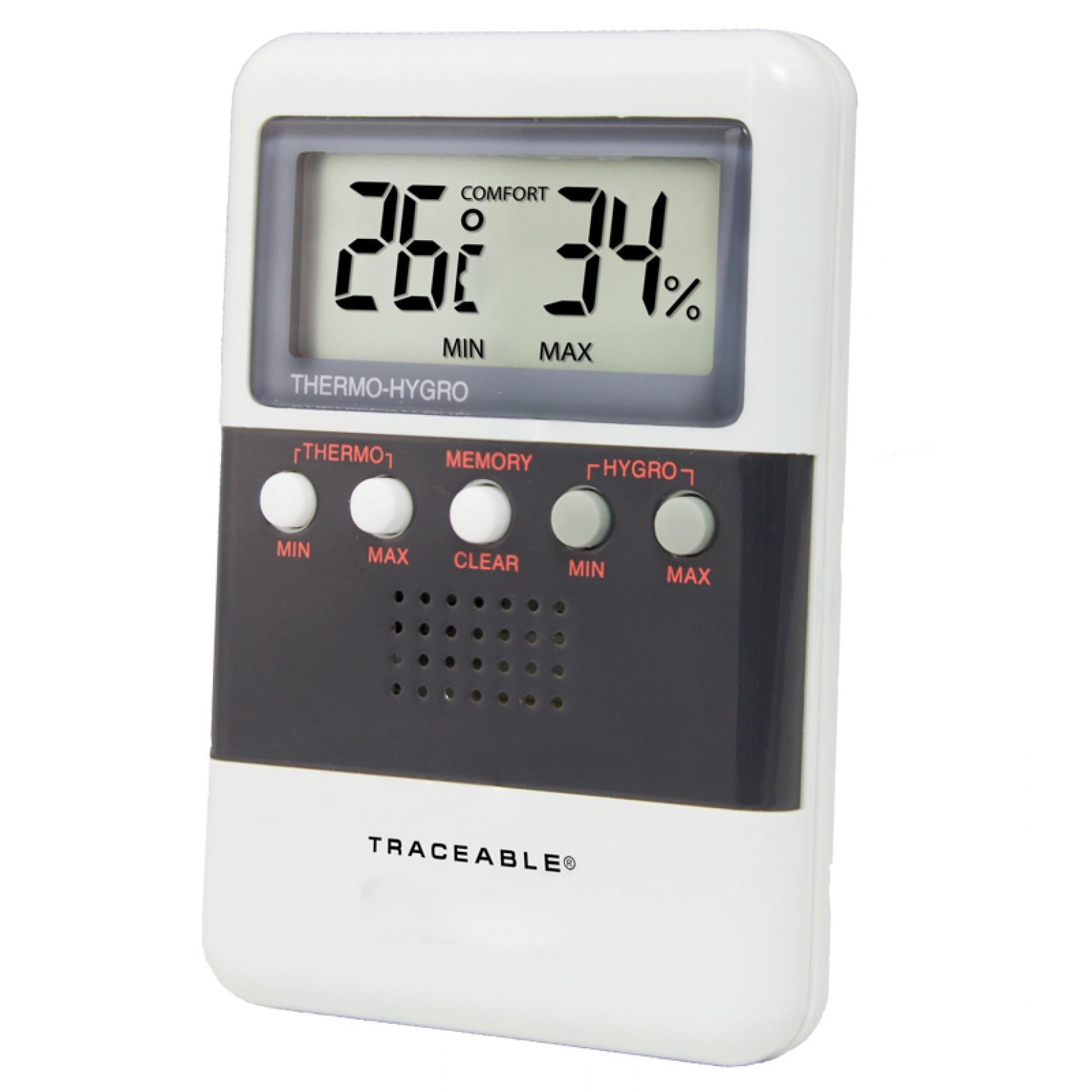 Medidor de temperatura y humedad con memoria de recuperación dual Certificado