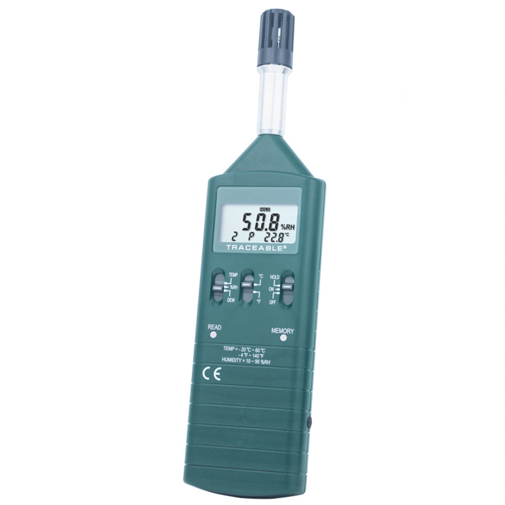 Medidor de humedad y temperatura con salida analógica de registro Certificado