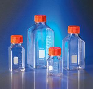 Botellas de almacenamiento cuadradas de PET