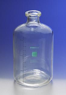 Botella graduada para soluciones, Con revestimiento PYREXPLUS