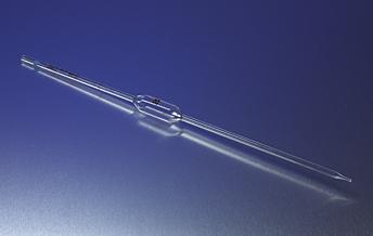 Pipeta volumétrica de vidrio reutilizable, Codificado por color