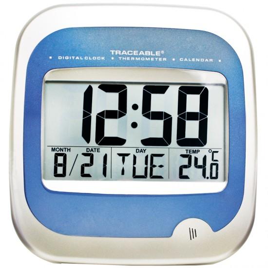 Reloj con termómetro y calendario Certificado