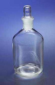 Botella Pyrex 1500, Boca angosta, Con tapón de vidrio