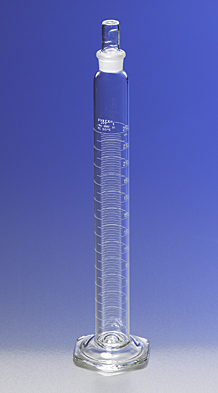 Probeta Graduada, Con escala métrica simple, Tapón de vidrio, TC