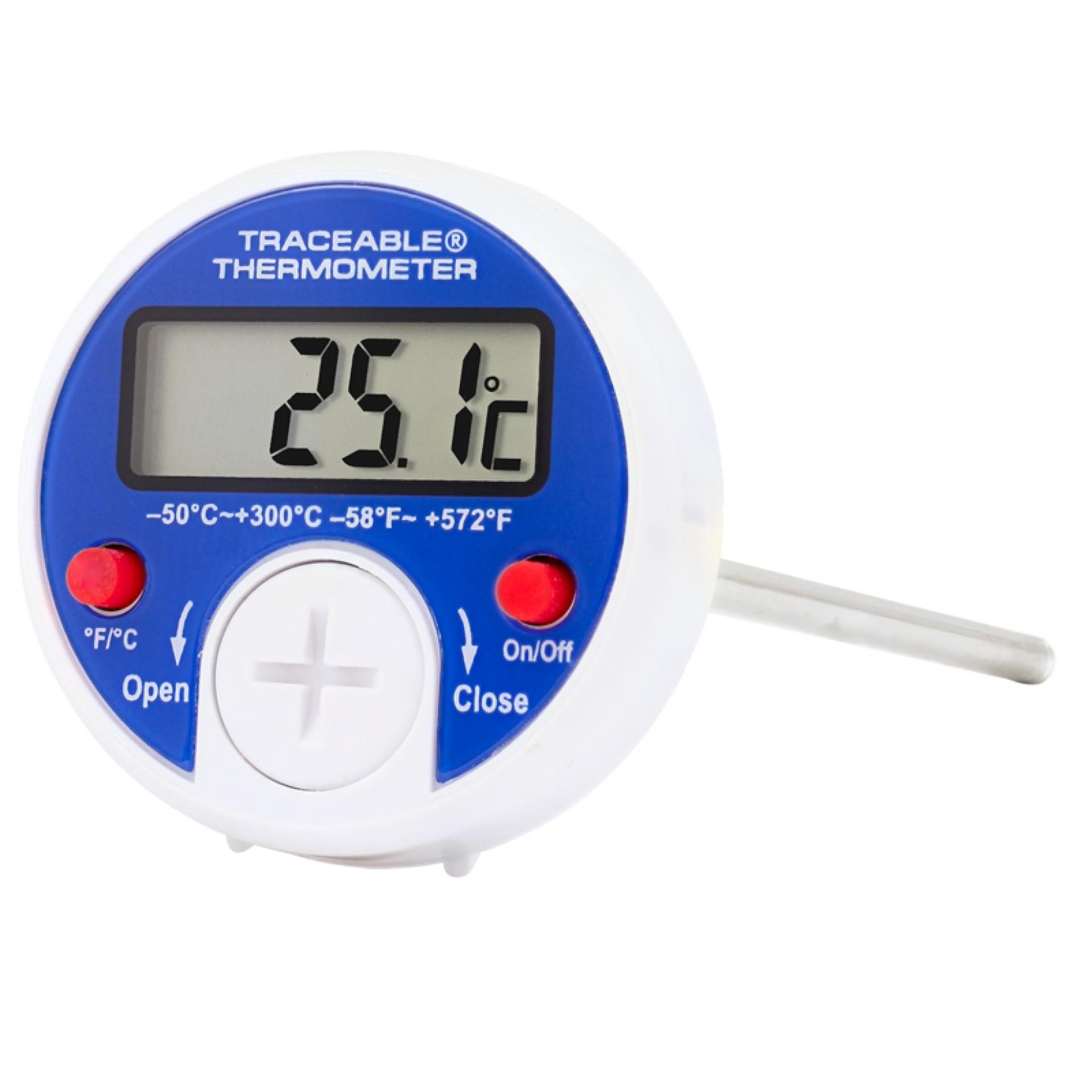 Termómetro de vástago digital redondo °F/°C Certificado