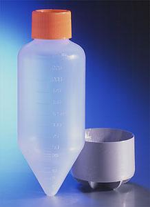 Tubos centrífugos de 250 mL y 500 mL y amortiguadores de soporte
