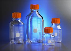 Botellas de almacenamiento cuadradas de policarbonato