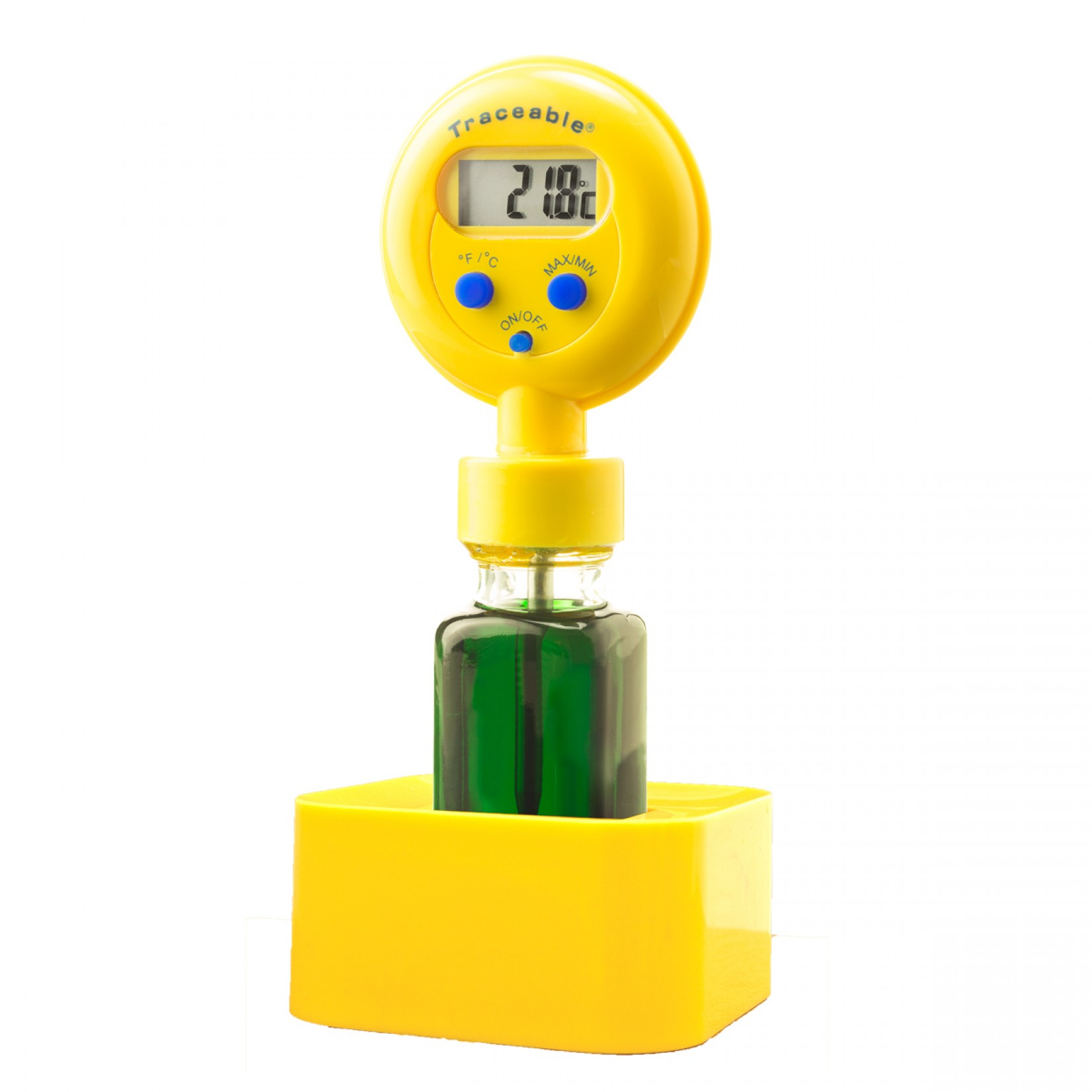 Termómetro digital con botella Certificado