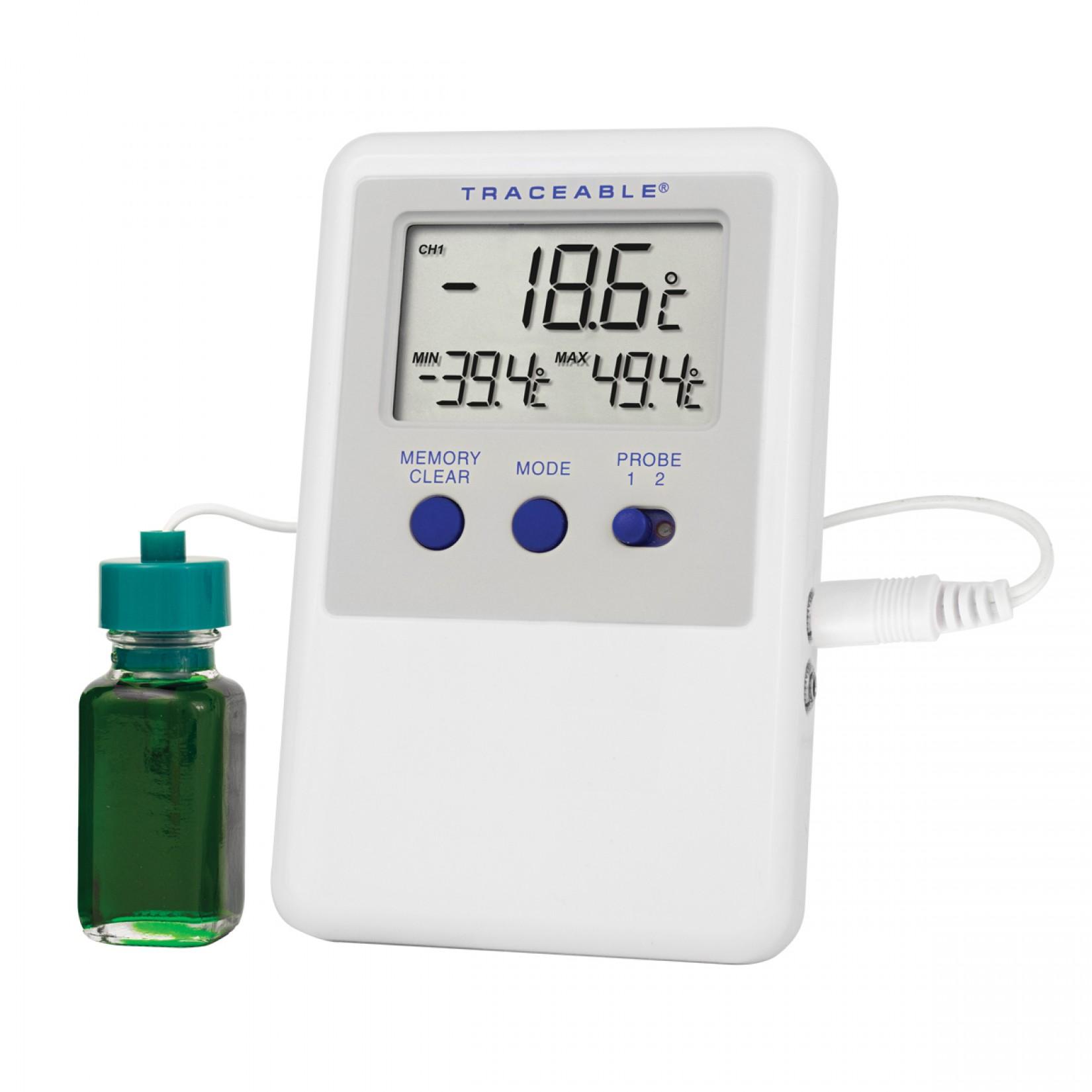 Termómetro para refrigerador y congelador con botella que aisla cambios de temperatura Certificado