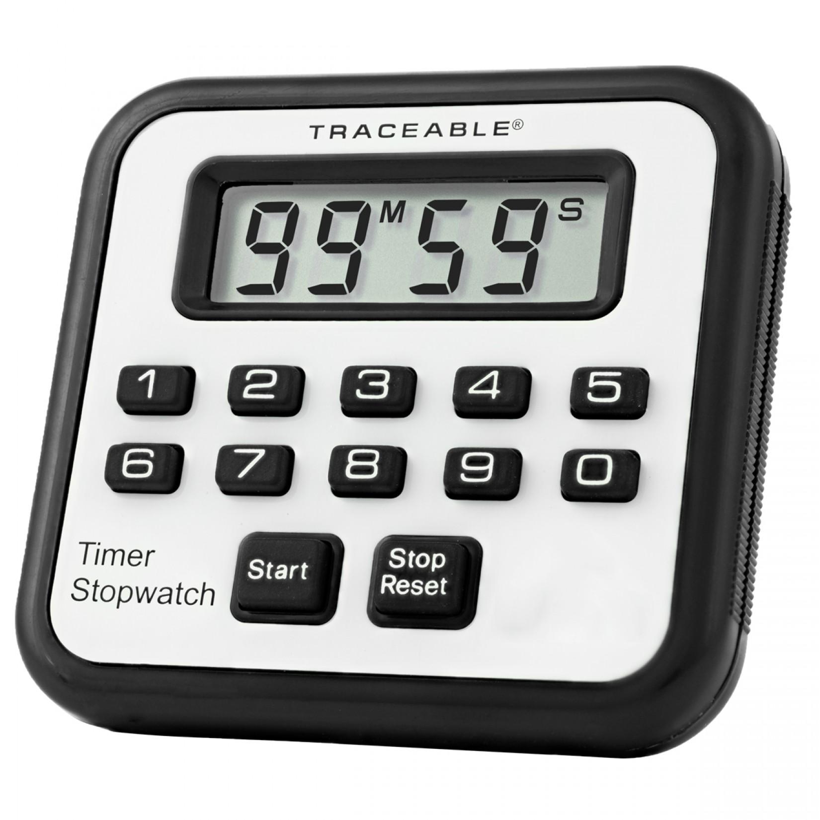 Timer con alarma y cronómetro Certificado
